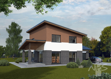 "The modern, two-storey house ""Liucija"" is suitable for a family of 4-5 people"