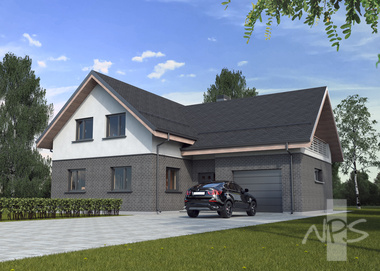Economical, appealing, A + energy efficiency class two-storey four-room dwelling house Henrikas
