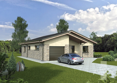 "The house project ""Kristina"" is economical, does not cover the useful area"
