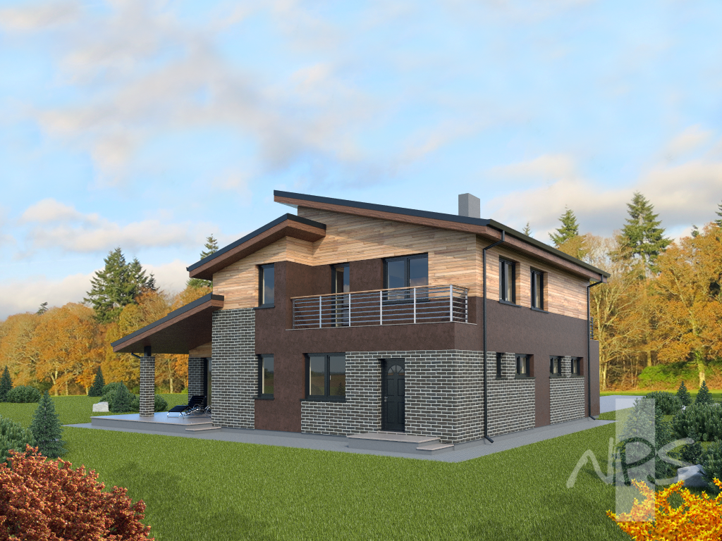 two storey house with a loft project patrikas nps projects