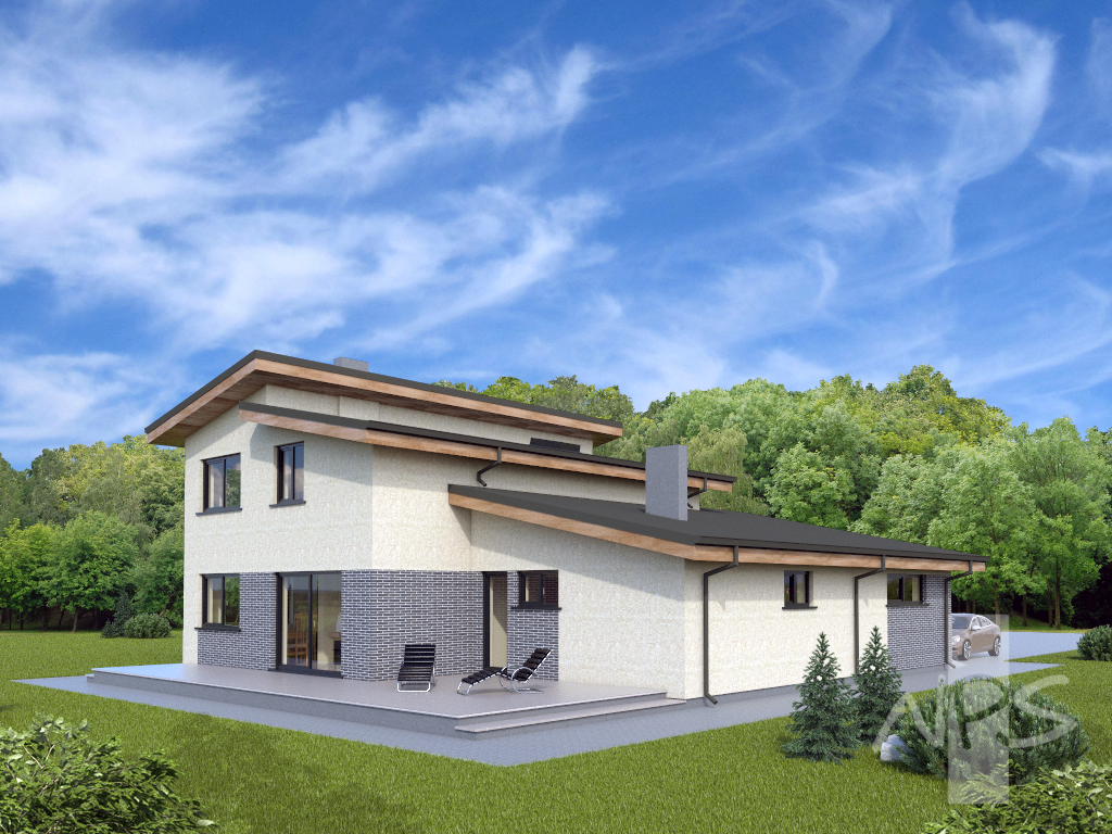 nerijus an unconventional single slope roof two storey residential