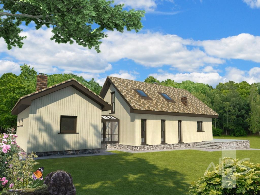 Single-storey houses with an attic - photo planning projects
