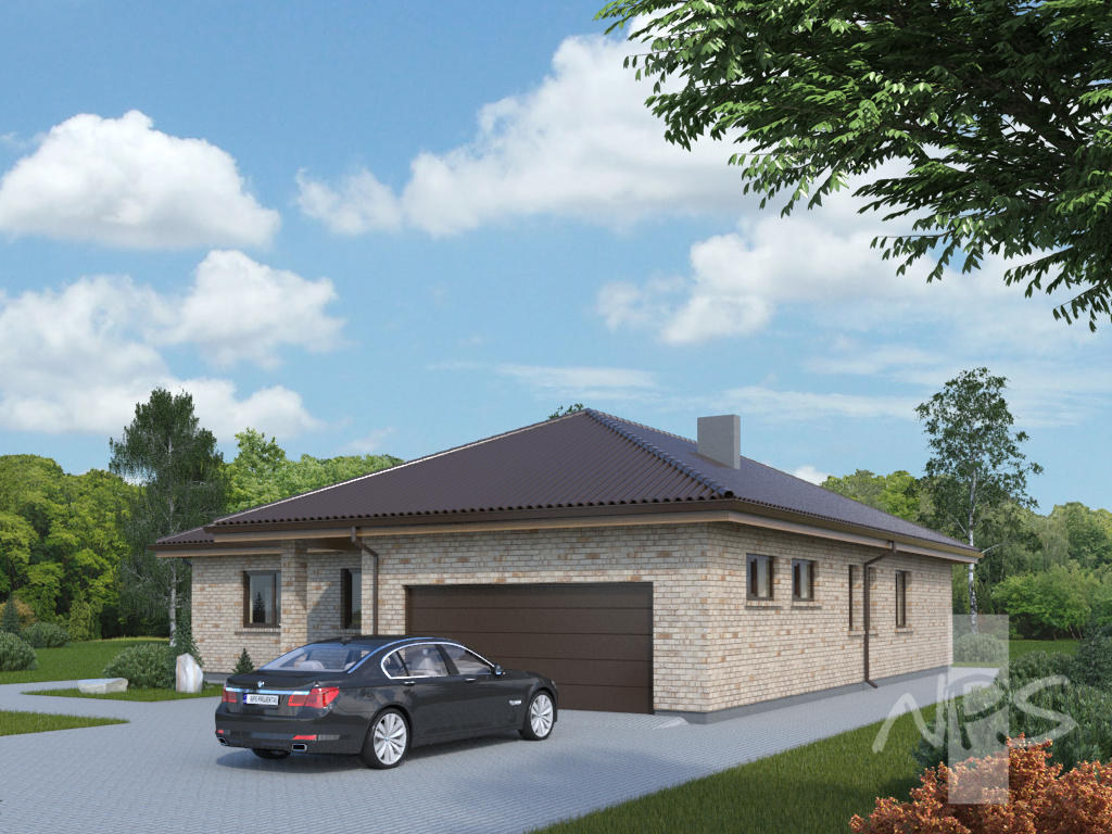 Single storey house project with two slot garage vita for House project online
